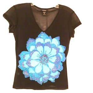 Women's top with rhinestone from Express